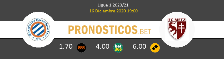 Montpellier vs Metz Pronostico (16 Dic 2020) 1