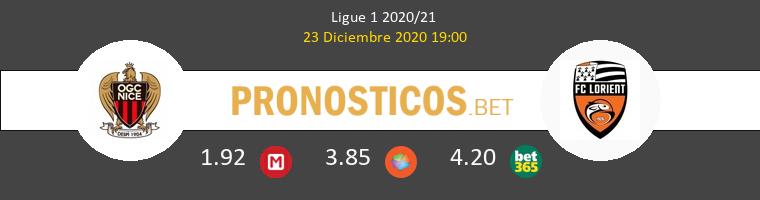 Niza vs Lorient Pronostico (23 Dic 2020) 1