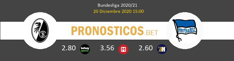 SC Freiburg vs Hertha Berlín Pronostico (20 Dic 2020) 1