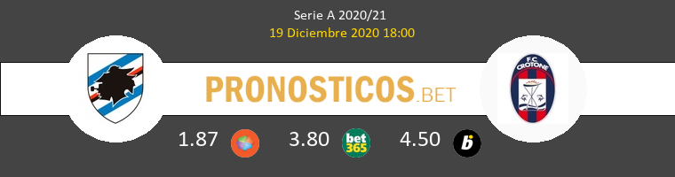 Sampdoria vs Crotone Pronostico (19 Dic 2020) 1