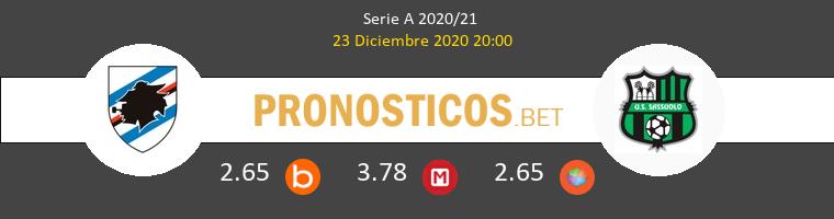 Sampdoria vs Sassuolo Pronostico (23 Dic 2020) 1