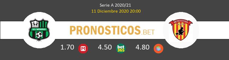 Sassuolo vs Benevento Pronostico (11 Dic 2020) 1