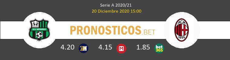 Sassuolo vs Milan Pronostico (20 Dic 2020) 1