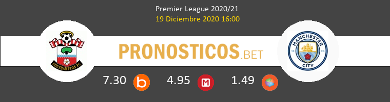 Southampton vs Manchester City Pronostico (19 Dic 2020) 1