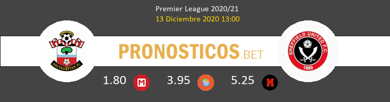 Southampton vs Sheffield Pronostico (13 Dic 2020) 1