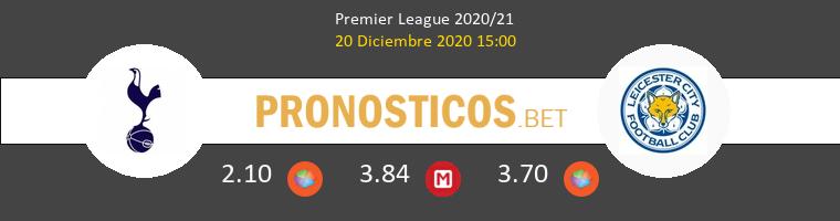 Tottenham Hotspur vs Leicester Pronostico (20 Dic 2020) 1