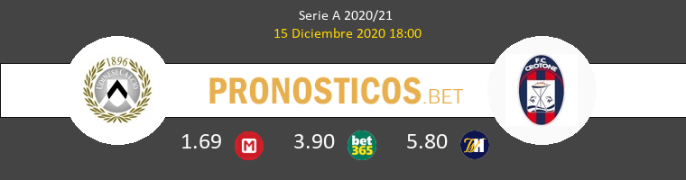 Udinese vs Crotone Pronostico (15 Dic 2020) 1