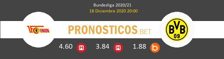 Union Berlin vs Borussia Dortmund Pronostico (18 Dic 2020) 1