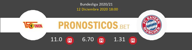 Union Berlin vs Bayern Munchen Pronostico (12 Dic 2020) 1