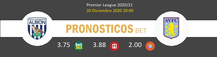 West Bromwich Albion vs Aston Villa Pronostico (20 Dic 2020) 1