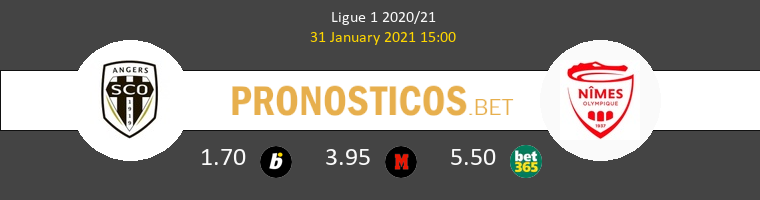 Angers SCO vs Nimes Pronostico (31 Ene 2021) 1