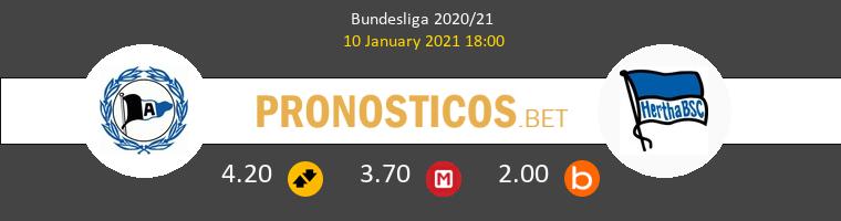 Arminia Bielefeld vs Hertha BSC Pronostico (10 Ene 2021) 1