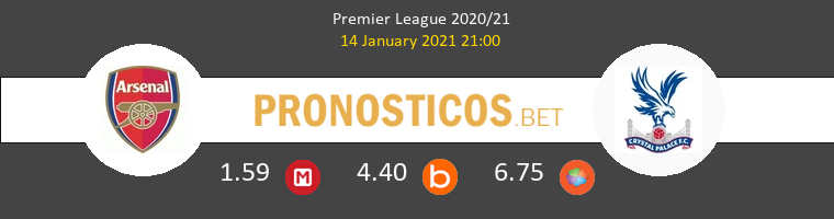 Arsenal vs Crystal Palace Pronostico (14 Ene 2021) 1