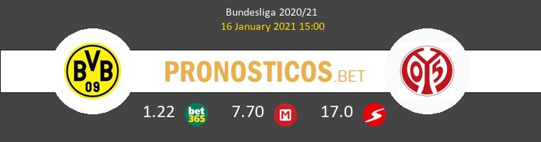 Borussia Dortmund vs Mainz 05 Pronostico (16 Ene 2021) 1