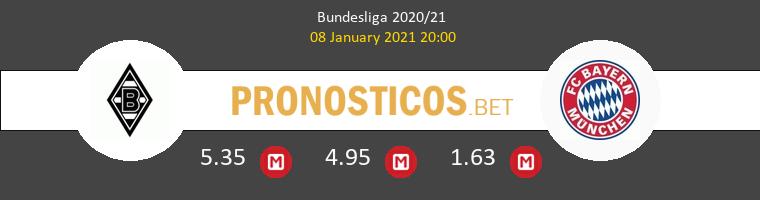 B. Mönchengladbach vs Bayern Munich Pronostico (8 Ene 2021) 1