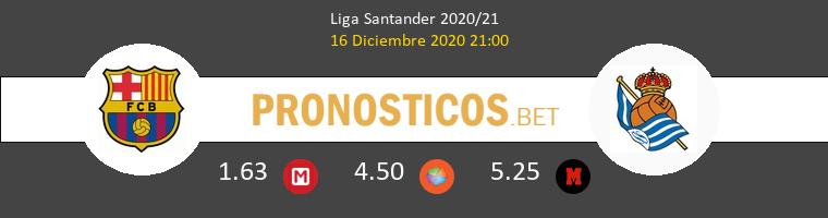 Barcelona vs Real Sociedad Pronostico (16 Dic 2020) 1