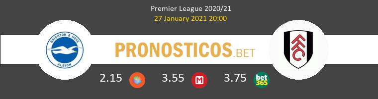 Brighton Hove Albion vs Fulham Pronostico (27 Ene 2021) 1