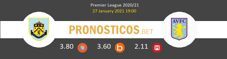 Burnley vs Aston Villa Pronostico (27 Ene 2021) 1