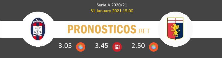 Crotone vs Génova Pronostico (31 Ene 2021) 1