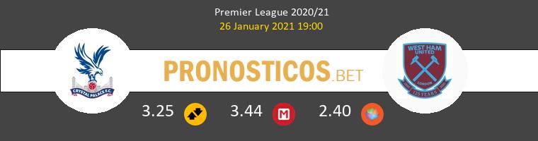 Crystal Palace vs West Ham Pronostico (26 Ene 2021) 1