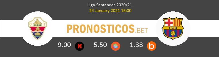 Elche vs Barcelona Pronostico (24 Ene 2021) 1
