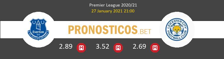 Everton vs Leicester Pronostico (27 Ene 2021) 1