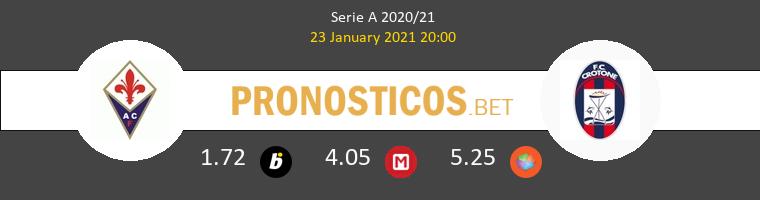 Fiorentina vs Crotone Pronostico (23 Ene 2021) 1