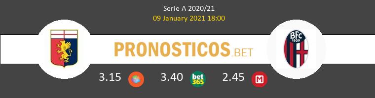Génova vs Bologna Pronostico (9 Ene 2021) 1