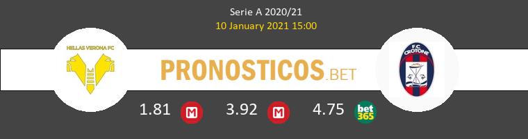 Hellas Verona vs Crotone Pronostico (10 Ene 2021) 1