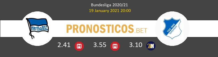 Hertha Berlin vs Hoffenheim Pronostico (19 Ene 2021) 1