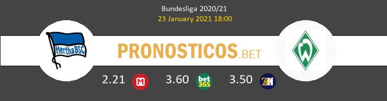Hertha Berlín vs Werder Bremen Pronostico (23 Ene 2021) 1