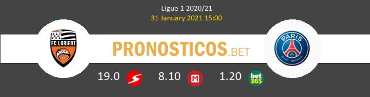 Lorient vs Paris Saint Germain Pronostico (31 Ene 2021) 1