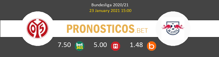 Mainz 05 vs Red Bull Leipzig Pronostico (23 Ene 2021) 1