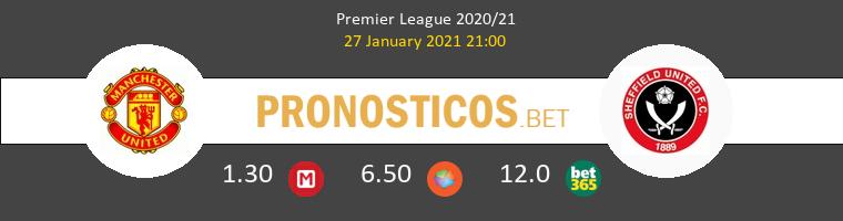 Manchester United vs Sheffield United Pronostico (27 Ene 2021) 1
