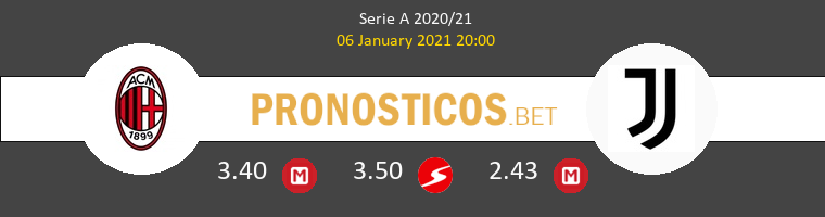 AC Milan vs Juventus Pronostico (6 Ene 2021) 1