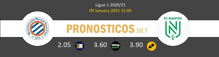 Montpellier vs Nantes Pronostico (9 Ene 2021) 1