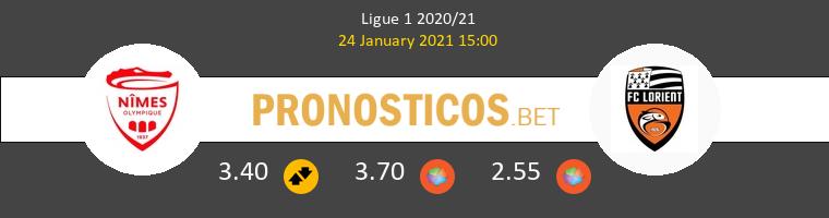 Nimes vs Lorient Pronostico (24 Ene 2021) 1
