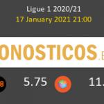 Olympique de Lyon vs Metz Pronostico (17 Ene 2021) 2