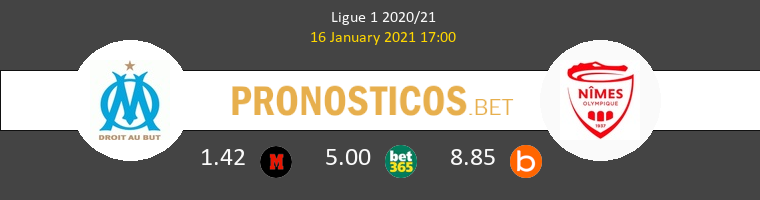 Olympique Marsella vs Nimes Pronostico (16 Ene 2021) 1