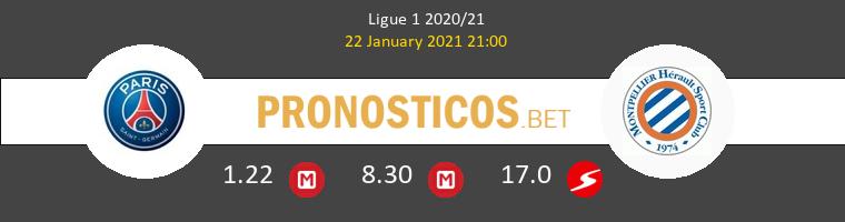 PSG vs Montpellier Pronostico (22 Ene 2021) 1