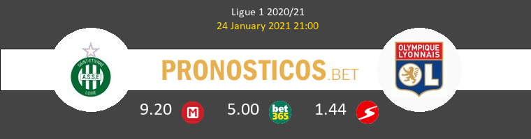 SaintvÉtienne vs Olympique de Lyon Pronostico (24 Ene 2021) 1