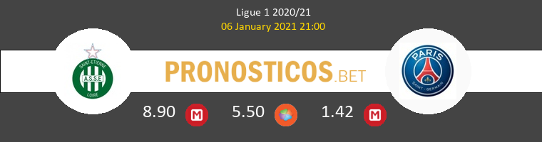 SaintvÉtienne vs PSG Pronostico (6 Ene 2021) 1