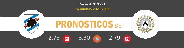 Sampdoria vs Udinese Pronostico (16 Ene 2021) 1