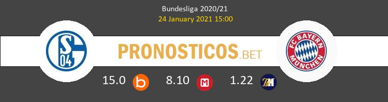 Schalke 04 vs Bayern Pronostico (24 Ene 2021) 1