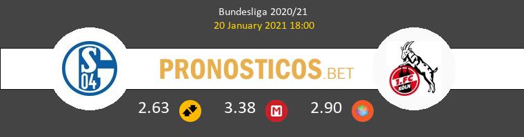 Schalke 04 vs Koln Pronostico (20 Ene 2021) 1