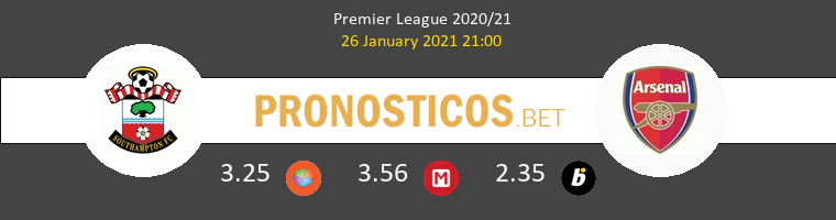 Southampton vs Arsenal Pronostico (26 Ene 2021) 1