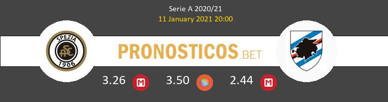 Spezia vs Sampdoria Pronostico (11 Ene 2021) 1