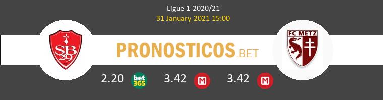 Stade Brestois vs Metz Pronostico (31 Ene 2021) 1
