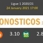Stade Rennais vs Lille Pronostico (24 Ene 2021) 3