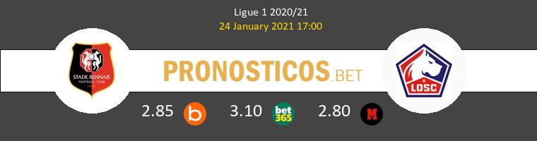 Stade Rennais vs Lille Pronostico (24 Ene 2021) 1